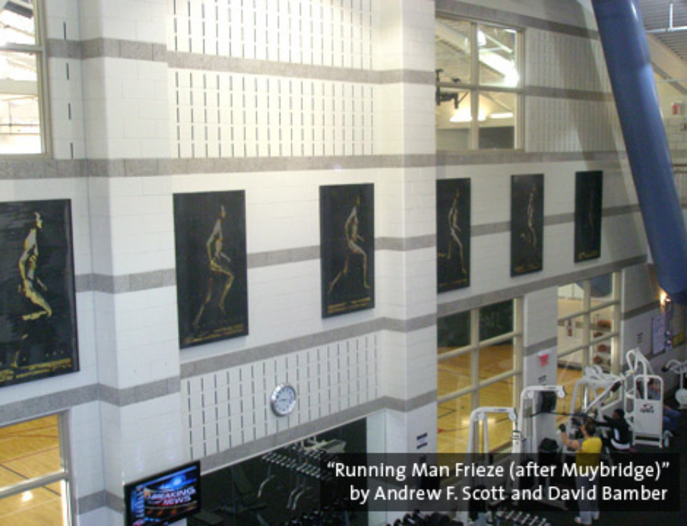 Rec Center Relief Sculptures