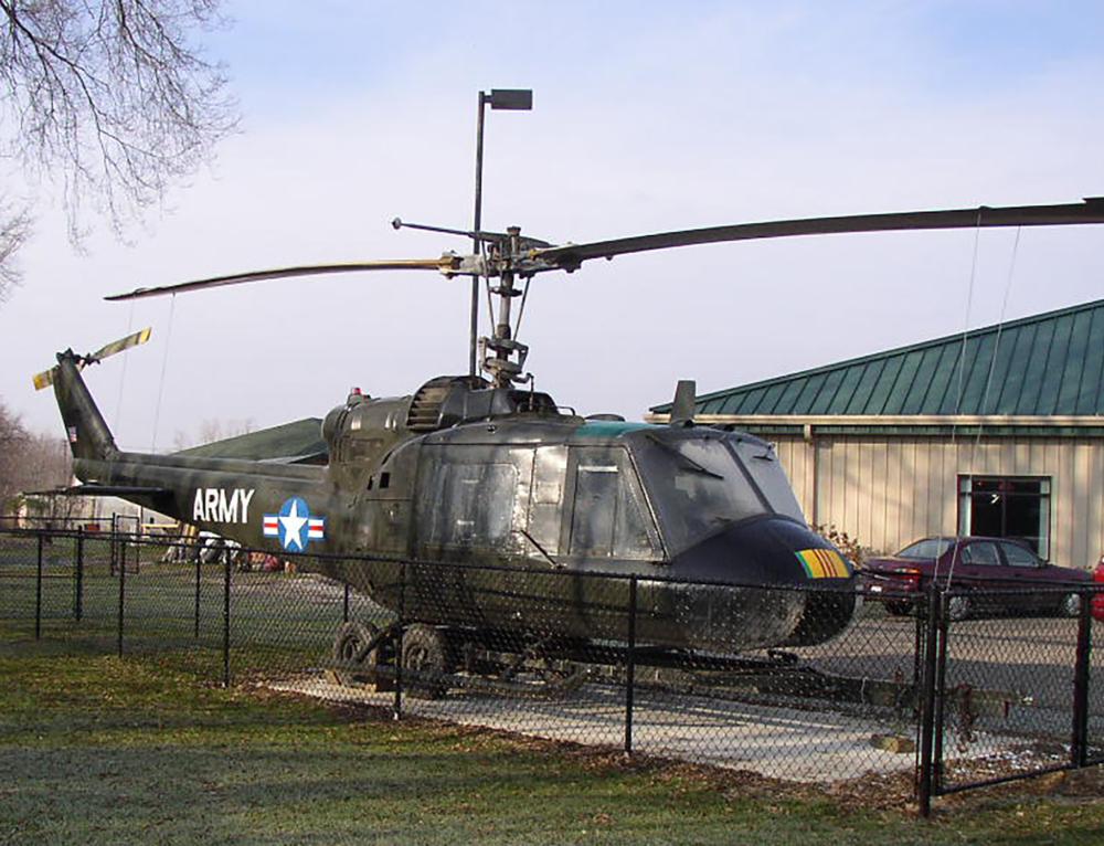"1967 UH-1B ""Huey"" Vietnam Helicopter Display"