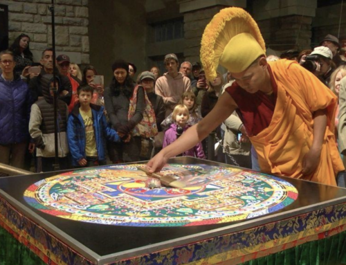 Buddhist monks destroy beautiful sand mandala they created in Dublin